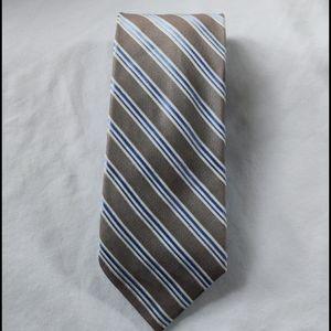 Chaps Tan/Blue/White Silk Neck Tie